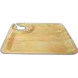 """9"""" Square Wine Plate Disposable - Disposable bamboo square wine plate, 9""""."""