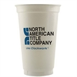 20 oz. Economy White Plastic Cup - 20 ounce plastic economy cup. Made in the USA.