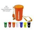 "Air Horn Sports & Stadium Fun Noise Maker - Orange - E662OR - Air horn noisemaker with lanyard, 3""."