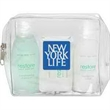 Restore weekend getaway kit - Clear vinyl bag with conditioning shampoo, lotion and body bar.