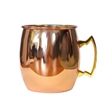 20 oz Copper single wall  Moscow Mule with brass handle - 20 oz. copper mug with brass handle.