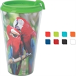 Full Color Infinity Tumbler - 16 oz. - Lidded tumbler - 16 oz. with full color wrap imprint included.