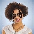 Black Treble Clef Note Glasses - Treble clef shaped eyeglasses made of plastic.