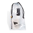 Premium White Cleaner with Repair Kit - Microfiber eyeglass and electronics cleaner with repair kit in drawstring bag.