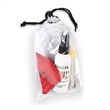 Ultra Clear Cleaner Kit in Drawstring Bag - Microfiber eyeglass and electronics cleaner with repair kit.