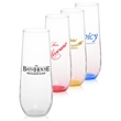 Clear 8 oz stemless champagne flute glass
