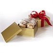 2 Dozen Cookies in Box w/ Printed Ribbon - Two dozen (24) cookies packaged inside a gift box with printed ribbon.