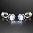 White LED Faux Diamond Pierced Earrings