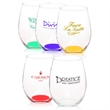 Clear 15 oz perfection stemless wine glass