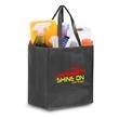 """Reusable Pearl Finish Grocery Bag 12""""w x 14""""h x 8.5""""g - 80 GSM non-woven polypropylene tote bag with laminated pearl finish"""