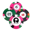 Copy of Chocolate Casino Poker Chips Candy - Dark mint or milk chocolate poker chips in assorted colors and denominations.