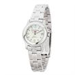 Bracelet Style Women's Classic Watch - Classic women's watch with metal case, silver finishing, and a folded steel bracelet.