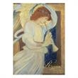 Angelic Sounds Religious Christmas Card - An angel playing a trumpet is on this holiday card.