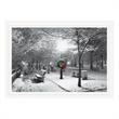 City Park in the Snow Holiday Card - Personalize this holiday card with a snow scene in a city park