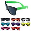 Sunglasses - Fun sunglasses with neon temples. Dark, UV-protective lenses.