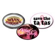Digistock Lapel Pins - Oval - Stock shapes with custom digitally printed decals.