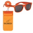 Poolside Fun Kit - Waterproof pouch with neck cord and sunglasses