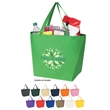 Non-Woven Budget Tote Bag - Shopping Bags - Polypropylene budget shopper non-woven tote bag with reinforced handles.   Great shopping bags value.