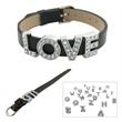Leather Letter Bracelet