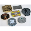 "3.25 Inch Custom Die Cast Zinc Belt Buckles - 3.25"" custom belt buckles that accommodate belts up to 1.75"" wide and are made of die cast zinc with clasps riveted into the backs"