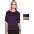 Emma Women's Scoop Neck Sweater - Emma women's 82% cotton / 18% nylon 3/4 sleeve sweater.
