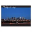 Denver Skyline Holiday Card - Holiday card with the Denver skyline.