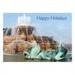 Buckingham Water Fountain Holiday Card - Holiday card featuring Buckingham Water Fountain.