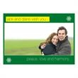 Customized Green Photo Greeting Card - Customized green photo holiday card.