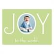 Joy the the World Photo Greeting Card in Mint - Joy to the World photo greeting card in mint.