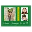 Customized Photo Card in Green - Customized photo holiday card in green.