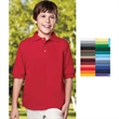 Youth Element Core Easy Care Polo - Youth 6 oz 60% cotton/40% polyester pique knit easy care short sleeve polo shirt