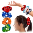 SCRUNCHIES - TUBLAR FABRIC, ONE SIZE FITS MOST ADULTS, ELASTIC RETAINS ORGINAL SHAPE . UNISEX