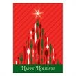 Culinary Greetings Card - Holiday card featuring a culinary Christmas tree.