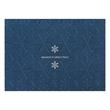 A Touch of Silver Holiday Card - This shimmery blue stock Holiday Card has two silver foil snowflakes with wishes on a snowflake patterned background.
