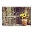 Country Thanks Holiday Card - A simple vase of flowers against a barnboard wall send Thanksgiving wishes to friends, family and associates.