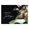 Frost Dusted Berries Holiday Card - A beautiful depiction of red berries dusted in frost sends warm Season's Greetings to friends, family and associates