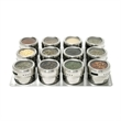 SOHO Stainless Steel small Board Set, 12 containers - SOHO Stainless Steel small Board Set, 12 containers on stainless board