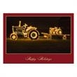 Holiday Hitch Tractor Decor Christmas Card - Holiday Hitch Tractor Decor Christmas Card
