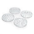 "Lady Anne Crystal Coaster Set Of 4 - Set of 4 Lady Anne Crystal Coaster.  3 3/4"" Diameter."
