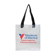 "NFL Approved Clear Open Tote with Webbing Handles - Clear PVC tote approved by the NFL. Complies with the new NFL stadium regulations for clear bags. 19"" webbing handles."