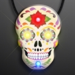 Light Up Day of the Dead Sugar Skull Necklace