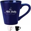 12 oz. Black Funnel Shaped Mug - 12 oz. black funnel shaped mugs. Dimensions: 3.5 in (Top Diameter); 2.3125 in (Bottom Diameter); 4 in (Height).