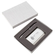 Pen and Business Card Case Set - Elegant pen and business card case set, presented in a gift box.
