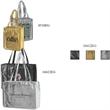 "Domestic Bags, Metallic Embossed Gloss - Domestic Bags, Metallic Embossed Gloss, 16"" x 6"" x 12"" x 6"", 28"" handle."