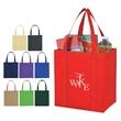 Non-Woven Avenue Tote Bag - Shopping Bags - Avenue shopping tote bag, made of 80 gram non-woven, coated water resistant polypropylene. Great shopping bags value.