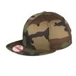 New Era(R) Flat Bill Snapback Camo Cap - Flat bill adjustable cap, 100% cotton. Blank.