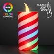 LED Light Up Candy Cane Candles