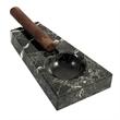 Marble Ashtray - Black marble cigar ashtray
