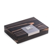 Ebony Wood Humidor - Wood humidor, cedar lined with hygro and humistat, holds 12 cigars.