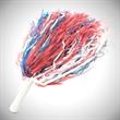 "Red White & Blue 16"" Plastic Pom Pom"